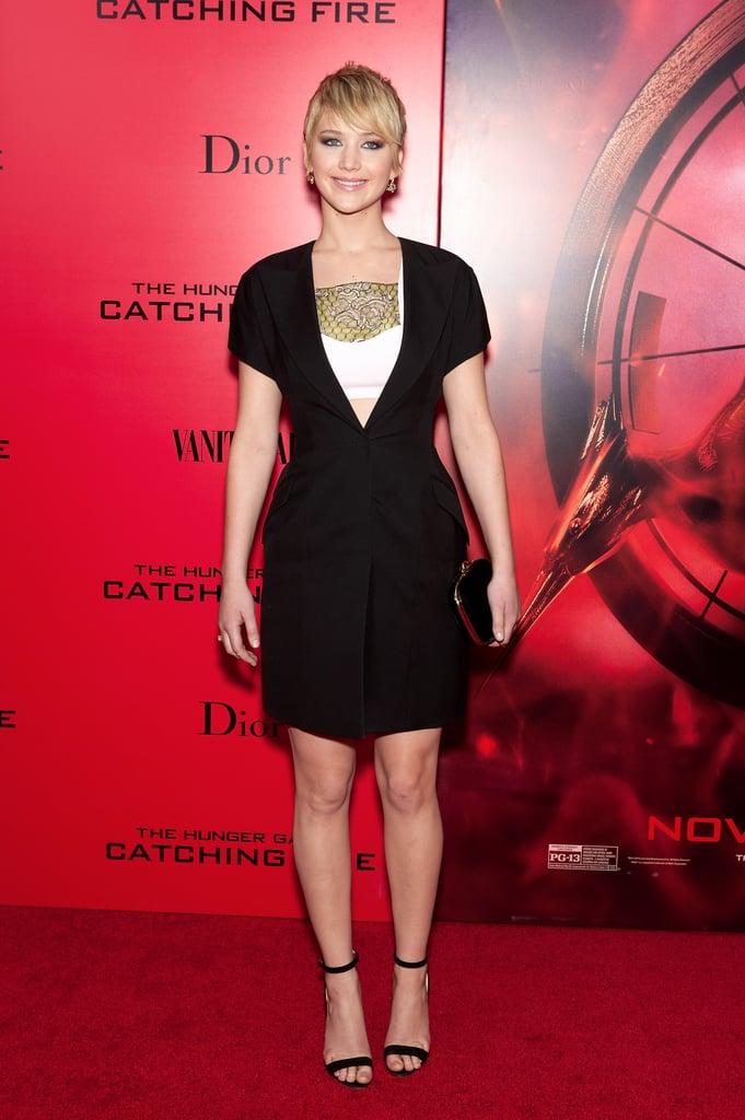 Jennifer Lawrence in Dior Minidress