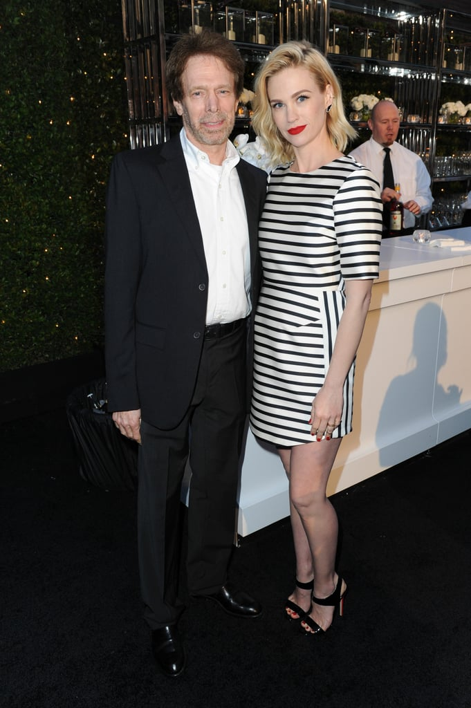 January Jones snapped a photo with Jerry Bruckheimer.