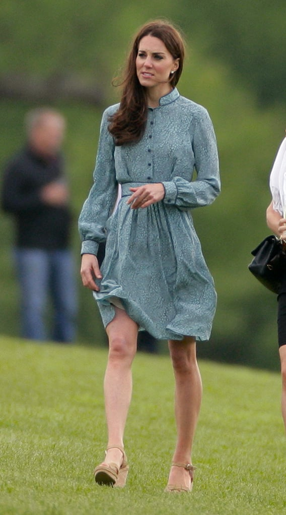 The Libélula dress she wore to the Audi polo challenge was a shirtdress silhouette, perfect for a casual day event.