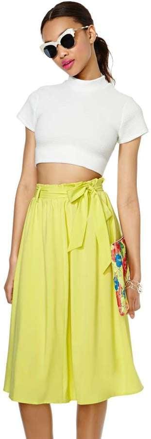 Nasty Gal Paper-Bag Waist Skirt