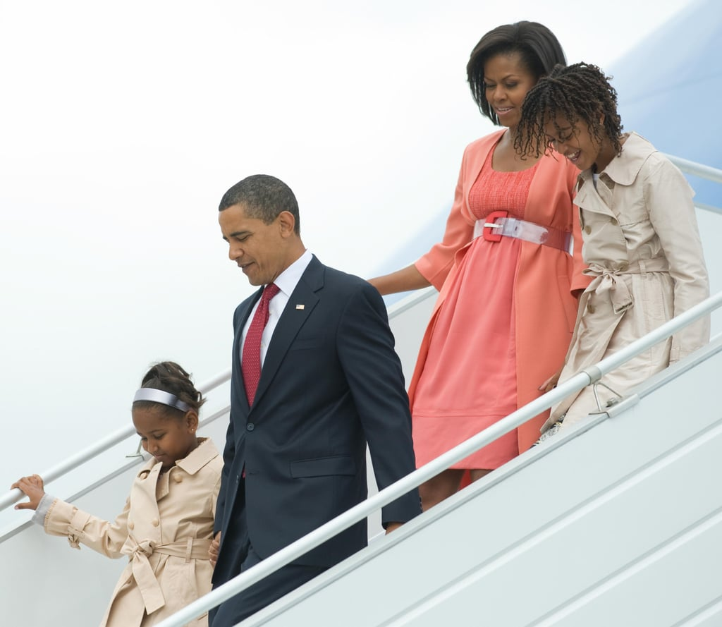 The Obamas arrived in Moscow in July 2009 for a two-day visit while President Obama attended a summit.