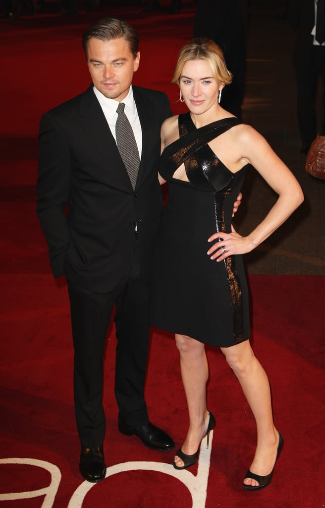 Kate Winslet posed for photos with Leonardo DiCaprio at their January 2009 UK premiere of Revolutionary Road.
