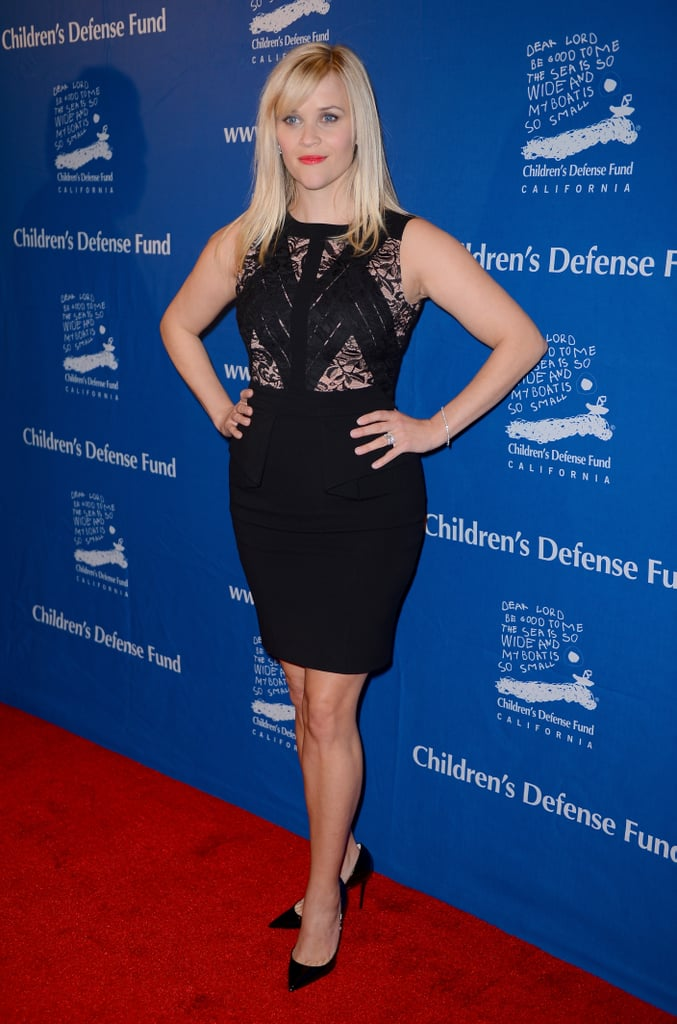 Reese Witherspoon posed on the red carpet at the Children's Defense Fund Beat the Odds Awards in Beverly Hills.