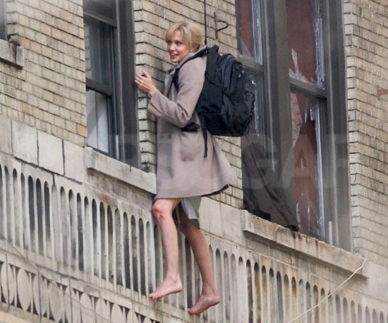 Photo of Angelina Jolie Doing Her Own Stunts on the Set of Salt
