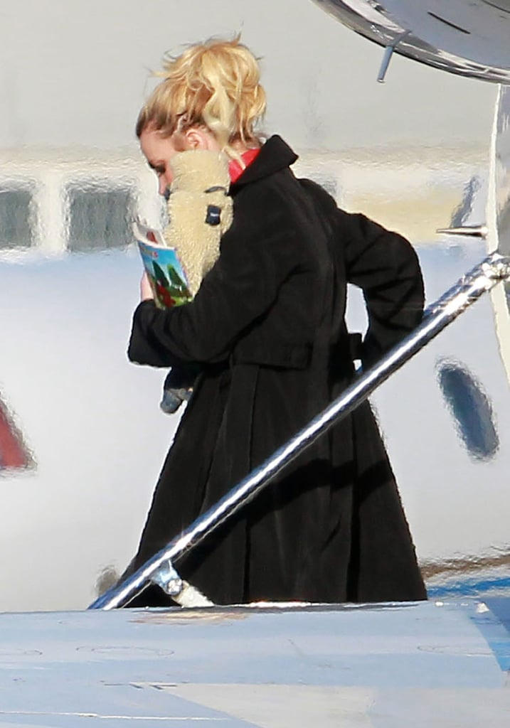 Britney Spears was back in LA after getting engaged to Jason Trawick in Las Vegas.