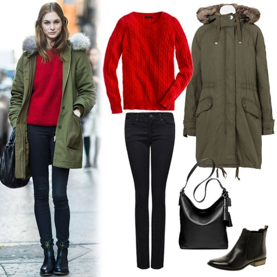 Red and Green Outfit Idea 2012