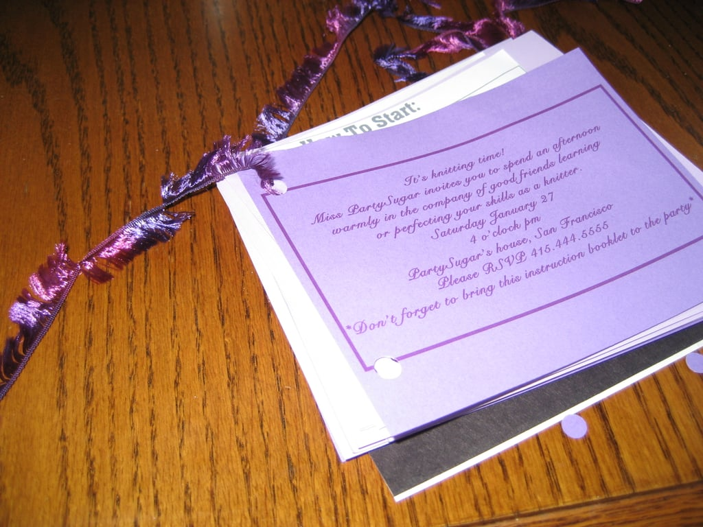 Come Party With Me: Knitting Party - Invites