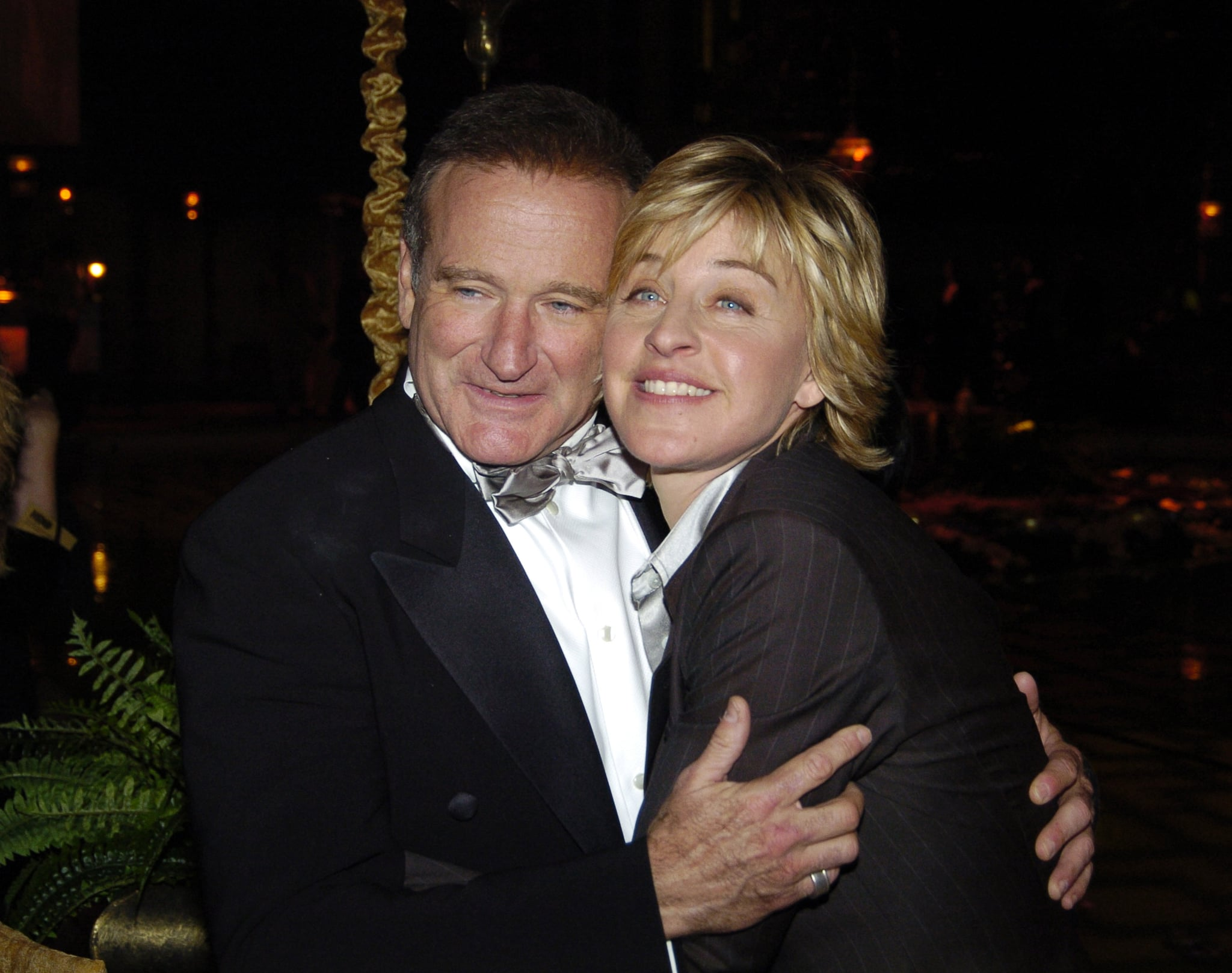 Robin shared a sweet hug with Ellen DeGeneres at HBO's Golden Globes afterparty in January 2005.