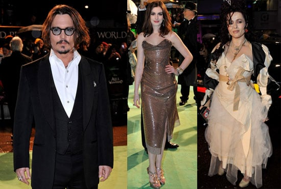 Photos of Johnny Depp, Anne Hathaway, Helena Bonham Carter at the Royal Premiere of Alice In Wonderland in London