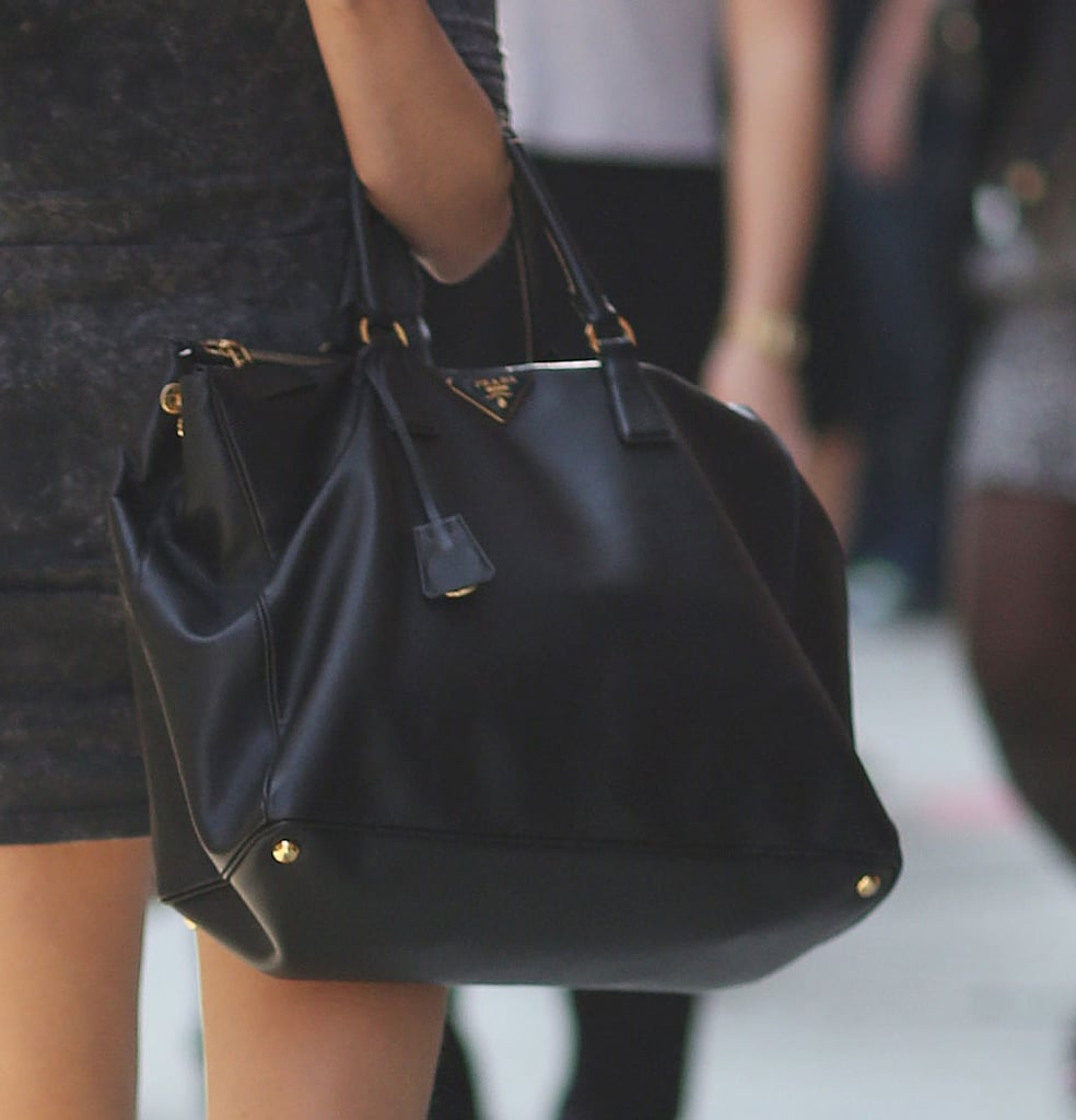 This Prada carryall was a luxe but understated finish. Source: Greg Kessler
