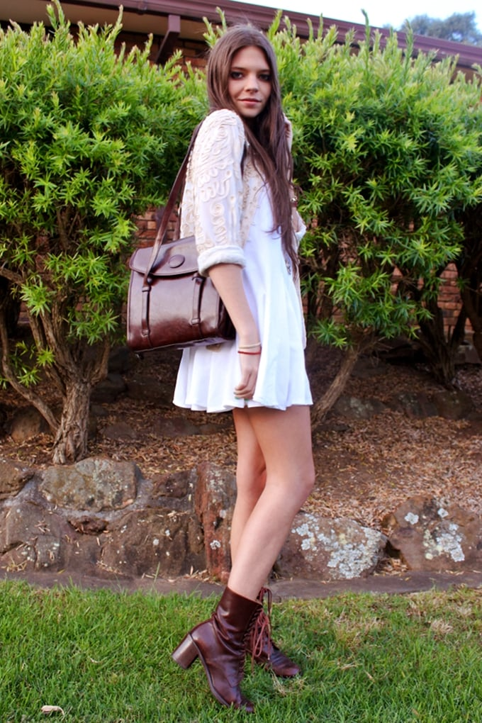 Give your LWD a new season makeover with deep, oxblood accessories. Source: Lookbook.nu