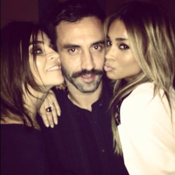 Ciara partied with Riccardo Tisci and Carine Roitfeld at the launch party for Carine's second issue of CR Fashion Book. Source: Instagram user ciara