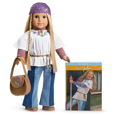 American Girl Julie Doll, Book, and Accessories
