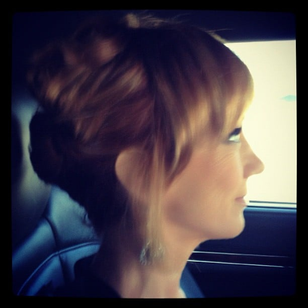 Kathy Griffin showed a profile shot of herself on the way to the show. Source: Instagram user kathygriffin