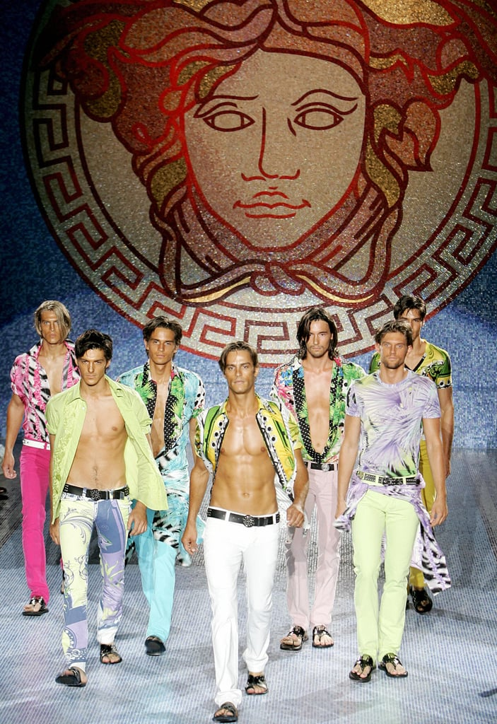 An army of bare-chested and bronzed models stormed the 2006 men's show. Would Donatella have it any other way?