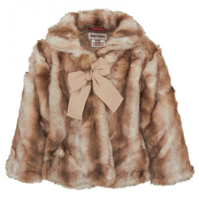 A faux fur coat ($184, originally $245) screams sophistication no matter what the age, but a bow detail adds a sweet touch.