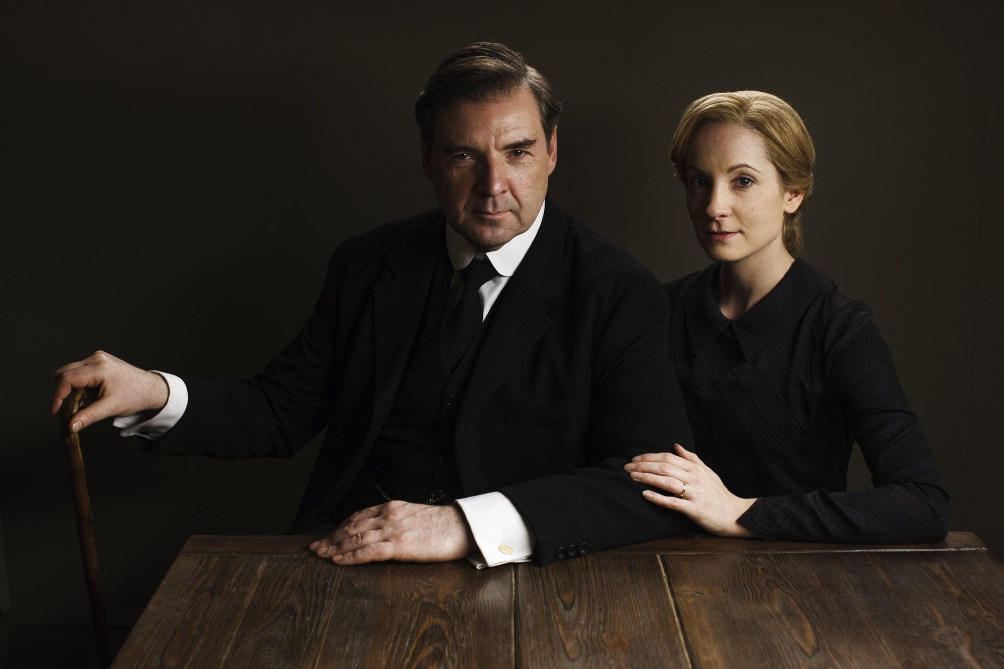 John Bates (Brendan Coyle) and Anna Bates (Joanne Froggatt) look serious.