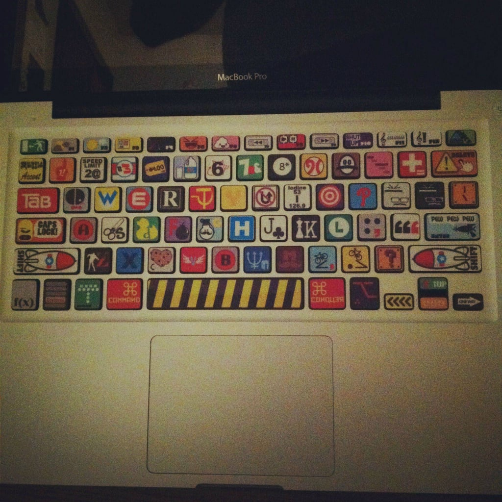 Cover a keyboard with weird ransom-note decals.