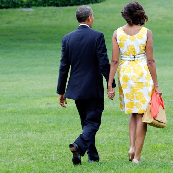Barack and Michelle Obama Kissing in 2013