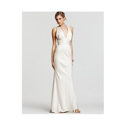 Double Face Satin V-Neck Gown