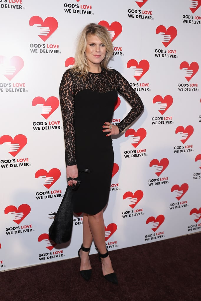 Alexandra Richards gave us a subtly sexy look via this Michael Kors Pre-Fall '12 black sheath, complete with lace neckline and sleeves.