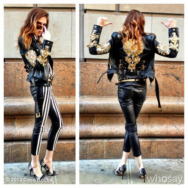 Coco Rocha showed off a fierce look by Fausto Puglisi. Source: Coco Rocha on WhoSay