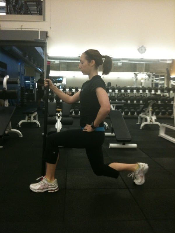 Supported Stationary Lunge