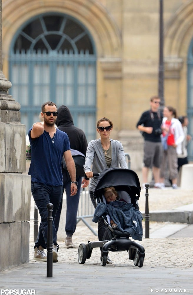 Natalie Portman Breaks From Work For a Parisian Vacation With Her Boys