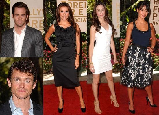 Photos of Eva Longoria, Chris Pine, Emmy Rossum at Hollywood Foreign Press Association Luncheon
