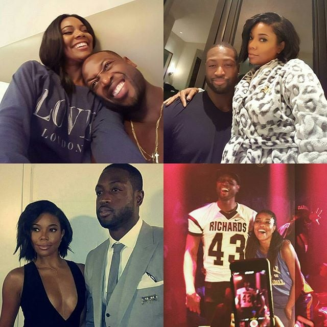 """In January 2016, Gabrielle shared a sweet birthday message for Dwyane, writing, """"Happy Birthday... may the adventures continue #34 #nbavote @dwyanewade."""""""