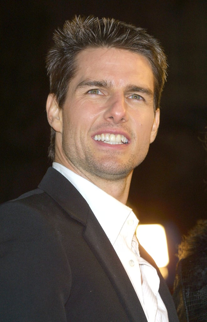 Tom Cruise posed at the Vanilla Sky premiere in December 2001.