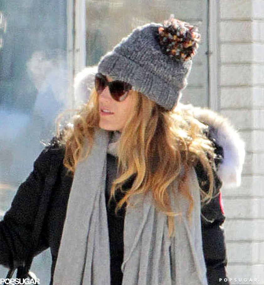 Blake Lively and Ryan Reynolds Brave the Snow in Canada With Their Pup