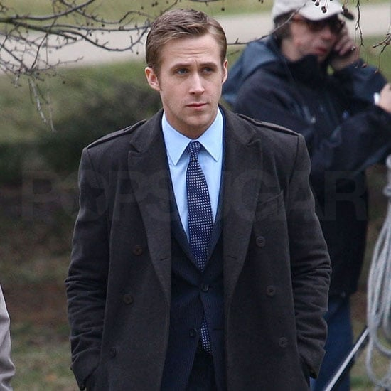 Pictures of Ryan Gosling and Philip Seymour Hoffman Together on the Set of The Ides of March