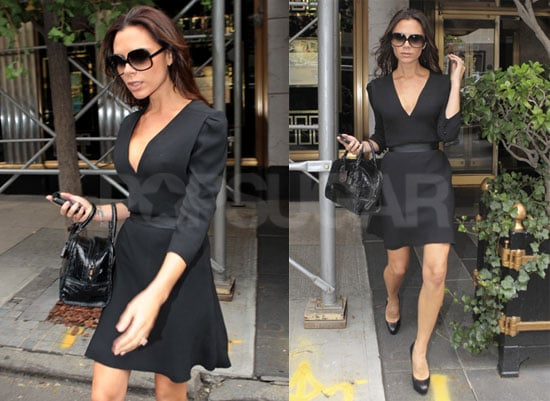 Pictures of Victoria Beckham Prepping For Fashion's Night Out