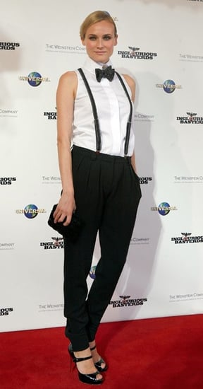 Diane Kruger Wears a Bow Tie and Suspenders to the Premiere of Inglourious Basterds