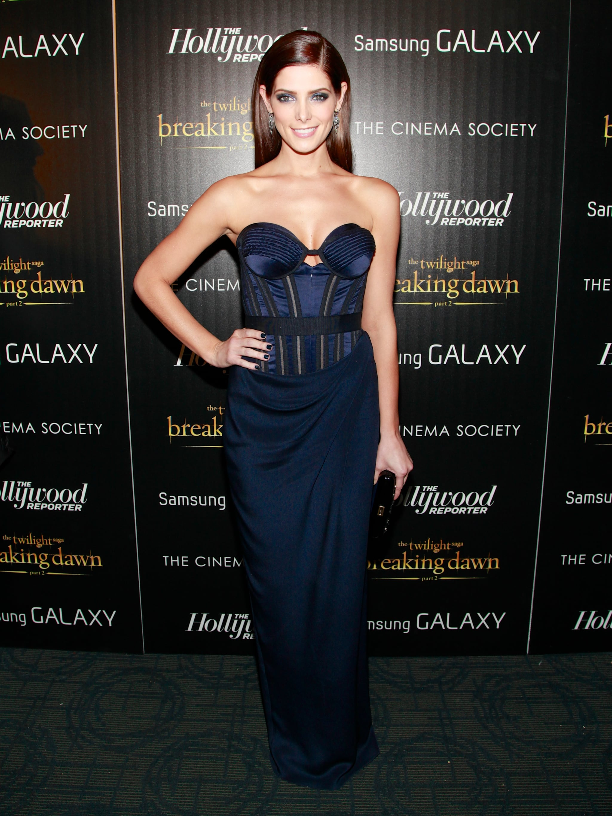 The smoldering beauty posed in Donna Karan Atelier for the NYC premiere of Breaking Dawn Part 2 in November 2012.