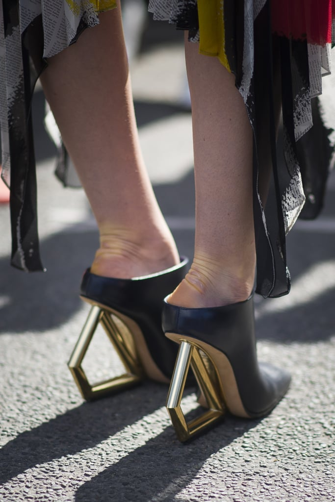 The heels on these mules deserve all the attention.