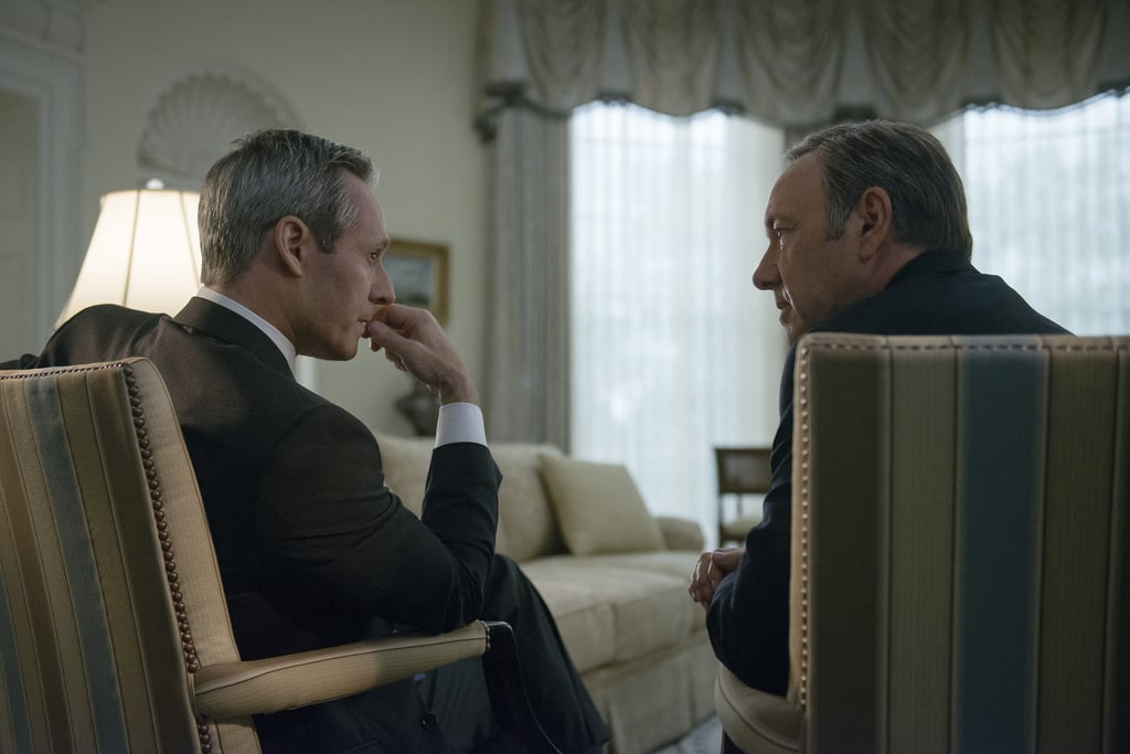 Frank has wormed his way into President Walker's (Michael Gill) office. Source: Netflix