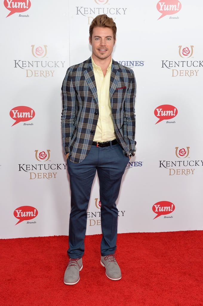Josh Henderson brought his good looks to the derby.