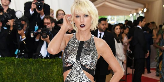 Taylor Swift Shows A Whole Lotta Leg In Gladiator Heels At The Met Gala