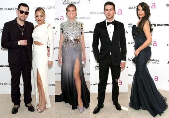 Photos of Nicole Richie, Kim Kardashian, Chace Crawford on the Red Carpet at Elton John's Oscars Party