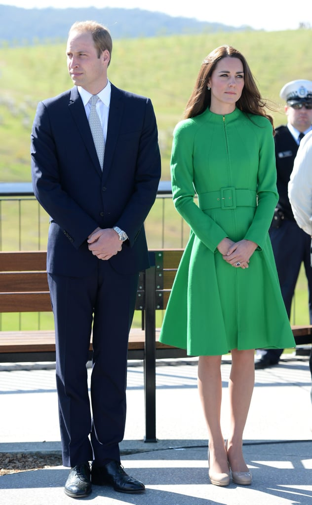 Kate Midleton in a Green Coat
