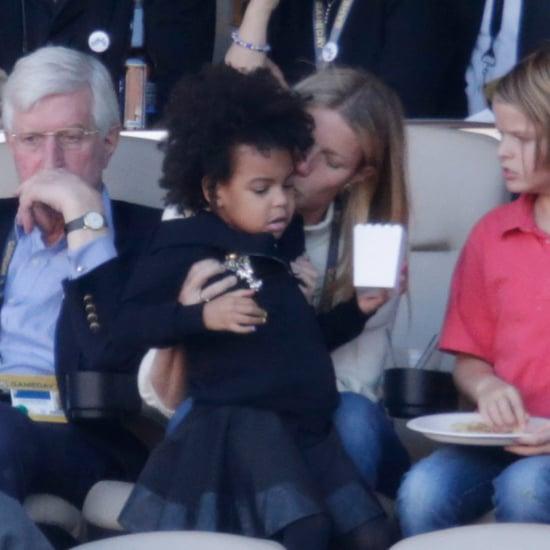 Gwyneth Paltrow Babysitting Blue Ivy at the Super Bowl 2016