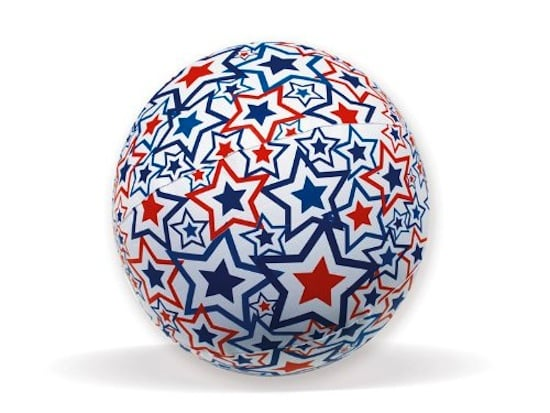 Swimways Light-Up Americana Beach Ball