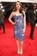 2 Broke Girls star Kat Dennings picked a shiny strapless dress.