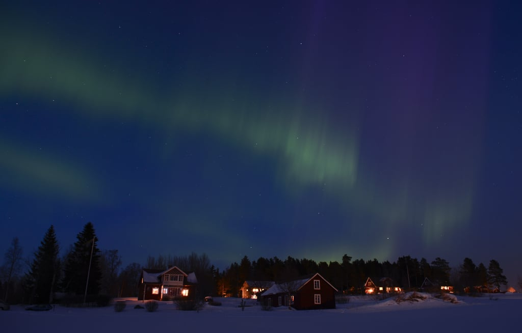 The northern lights lit up the sky in Sweden in early 2013.