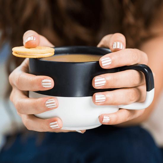 Striped Manicure Oreo Tutorial