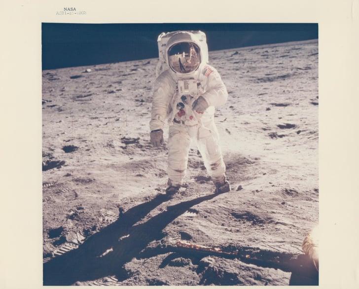Buzz Aldrin's Visor Reflects Neil Armstrong