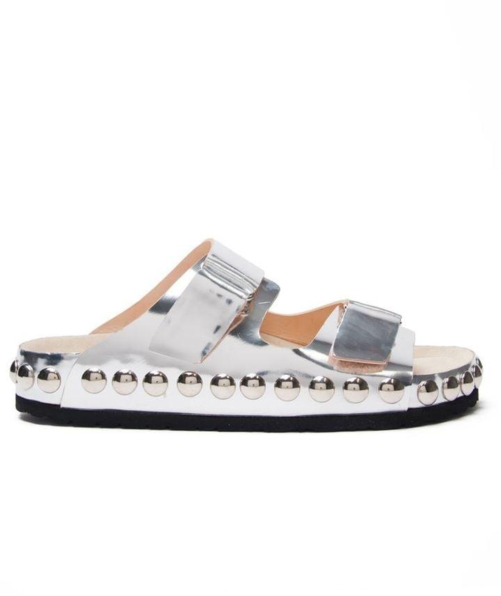 Giambattista Valli Metallic Slide Sandals