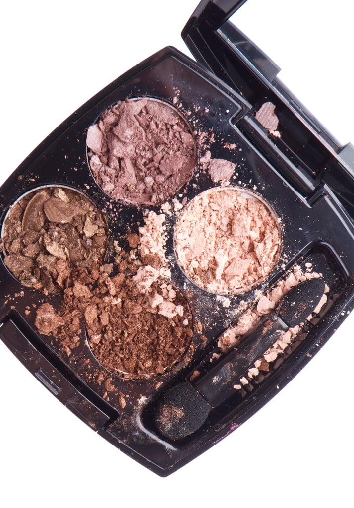 Broken compacts happen to us all! Our readers loved this tutorial to fix pulverized eye shadows and powders.